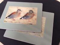 Bird table mats x 2
