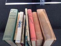 Vintage fishing books.