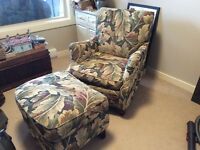 CHAIR & OTTOMAN OR CHAISE