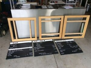 Lot of Menuboards with Custom Wood Frames