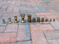 Solid brass weights