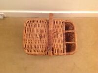Lovely rattan picnic basket/hamper