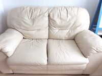 Two Leather sofas (beige)