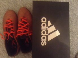 Adidas football boots x 17.4 Red/orange size 9