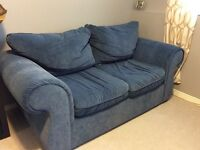 Sklar Peppler Microsuede couch and loveseat