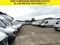 2014 2015 MERCEDES BENZ SPRINTER 313 CDI LWB HIGH ROOF. CHOICE OF 50 SPRINTERS