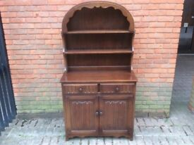 Oak Dresser with a lovely curved top with shaped detail