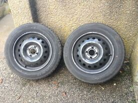 Steel wheels with Winter Tyres