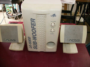 Powered Sub with 2 Speakers / Good Sound / $26.oo
