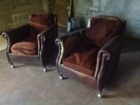 Vintage club chairs very old