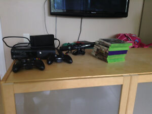 Xbox 360, With 2 Controllers, 9+ Games And Kinect
