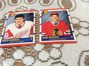 Rookie hockey cards