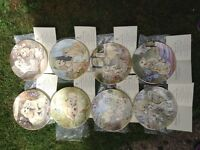 8 never been used FINE BONE CHINA PLATES collection