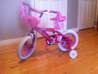 Princess Bike with Training Wheels