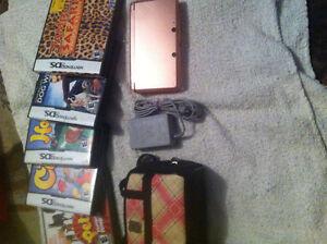 Pink Nintendo 3DS an games