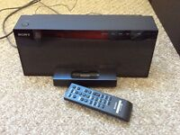 Sony DAB stereo with iPod dock and wireless subwoofer