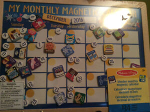 Melissa and Doug magnetic monthly calendar - brand new