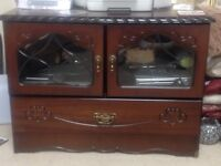 Matching corner tv unit and cabinet