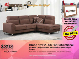 ◆BLACK FRIDAY WEEK! Brand New 2PCs CORDUROY Sectional@NEWD Edmonton Edmonton Area image 1