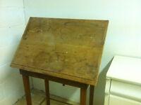Tilt top old school desk