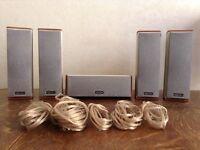 5x Denon Surround Sound Speakers 4x SC-A500SD & 1x SC-C500SD