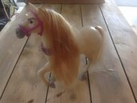 """Tangled"" Barbie horse"