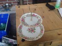 2 tier cake plate