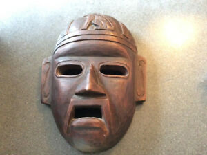 Mexican Aztec Wooden Mask