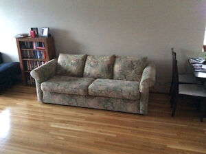 3 seat couch with floral pattern