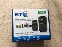 BT broadband extender flex 500 kit (twin), not used - bargain
