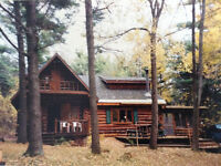 Log Chalet for Immediate Sale (Dickinson Center, NY)