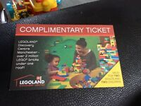 Legoland discovery centre Manchester 2 adult and 2 children ticket