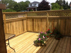beautiful decks and fences.