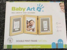 Baby Art handprint footprint photo frame