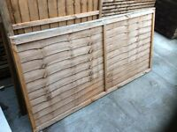 6x3 larch lap / wavy lap fence panels £5 each - cheap!
