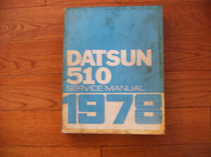 1978 DATSUN 510 SHOP MANUAL