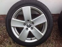 "17"" VW PASSAT B6 SPORT MONTI CARLO ALLOY WHEELS ALLOYS TYRES WHEELS RIMS PCD 5X112 FITMENT"