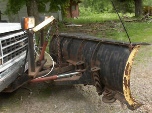 FISHER  8 ' POWER ANGLE  ALL  HYDRAULIC  SNOW  PLOW