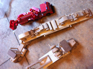 Wooden Toys - tow truck, fire truck, Truck hauler and 4 cars