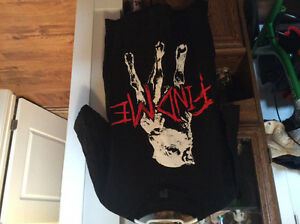 SIX ASSORTED TOPS-THREE T-SHIRTS NEW AND OTHER TOPS USED