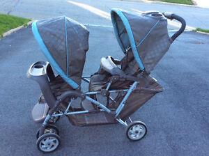 Poussette double Duoglider de Graco / Double stroller
