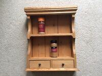 Pine spice rack