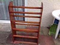 Solid wood shoe rack