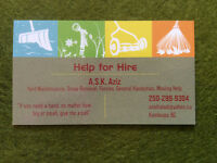Skilled Help for Hire- Call  'A.S.K. Help for Hire'