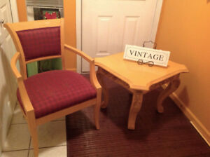 Matching duo table and chair