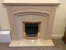 Marble / Composite Fireplace Complete with Coal Effect Gas Fire