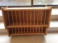 Stunning Solid Vintage Pine Plate Rack
