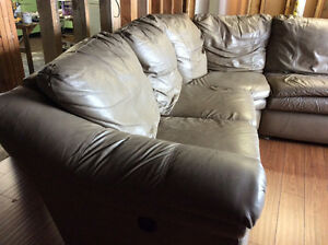 Leather Lazy Boy Sectional couch
