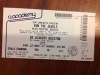 Run The Jewels tickets (x2) Brixton
