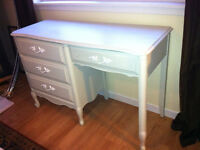 Beautiful French Provincial pastel green Distressed Desk